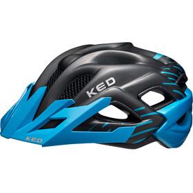 KED Status Helmet Junior Blue Black Matt